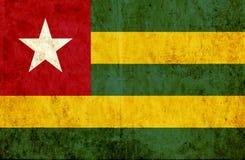 Grungy document vlag van Togo vector illustratie