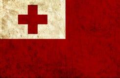 Grungy document vlag van Tonga vector illustratie