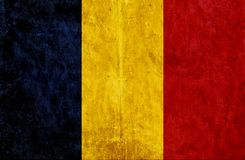 Grungy document vlag van Tsjaad vector illustratie