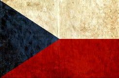 Grungy document vlag van Tsjechische Republiek stock illustratie