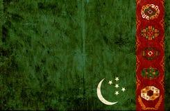 Grungy document vlag van Turkmenistan vector illustratie