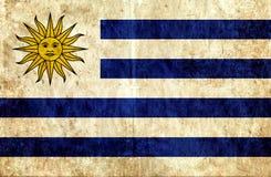 Grungy document vlag van Uruguay stock illustratie