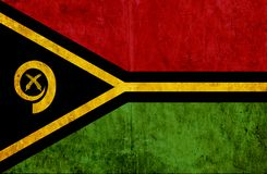 Grungy document vlag van Vanuatu vector illustratie