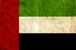 Grungy document vlag van Verenigde Arabische Emiraten royalty-vrije illustratie