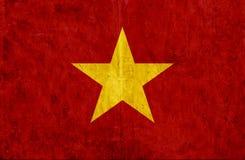 Grungy document vlag van Vietnam stock illustratie