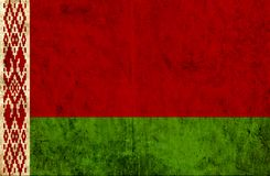 Grungy document vlag van Wit-Rusland stock illustratie