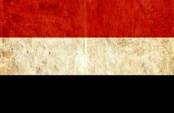 Grungy document vlag van Yemen vector illustratie