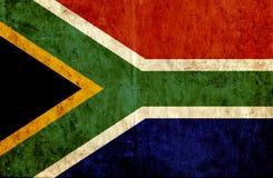 Grungy document vlag van Zuid-Afrika vector illustratie