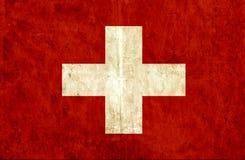 Grungy document vlag van Zwitser stock illustratie