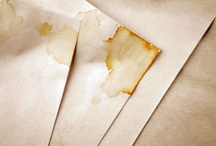 Grungy documenten stock foto