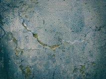 Grungy donkere textuur van de cementmuur met krassen en barst Royalty-vrije Stock Foto's