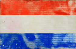 Grungy Dutch Flag Stock Image