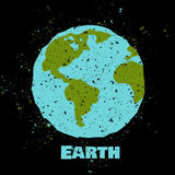 Grungy Earth poster Stock Photo