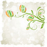 Grungy Easter Background with Decorated Eggs Royalty Free Stock Image