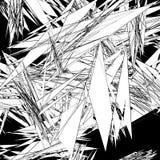 Grungy, edgy texture with random elements - Abstract illustratio Stock Photos