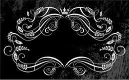 Grungy emblem background Stock Photo