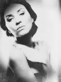 Grungy żeński portret Obrazy Royalty Free