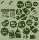 grungy etikettförsäljning för samling stock illustrationer