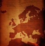 Grungy Europa-Karte Lizenzfreie Stockfotos