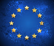 Grungy European Union symbol Royalty Free Stock Photos