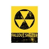 Fallout Shelter Grungy Sign Stock Photos