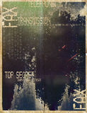 Grungy fax background. A grungy fax transmission background Stock Image