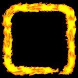 Grungy Feld Rand der abstrakten Feuerfarbe vektor Lizenzfreies Stockfoto