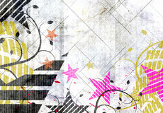 Grungy festivalachtergrond vector illustratie