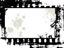 Grungy film strip with background Royalty Free Stock Photo