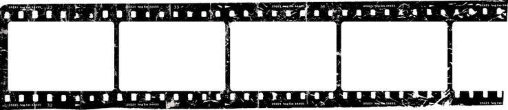 Grungy filmremsa, tomma fotoramar, fritt utrymme för bilder, vektor Royaltyfri Foto