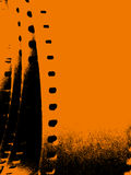 Grungy filmstrook Stock Afbeelding