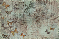 grungy fjärilar Arkivbild
