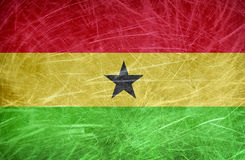 Grungy flag of Ghana Royalty Free Stock Photography