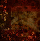 Grungy floral background Stock Photo