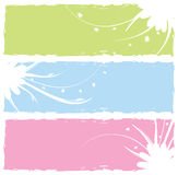 Grungy floral banners Royalty Free Stock Images