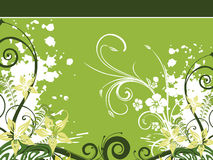 Grungy floral pattern with background Stock Photos