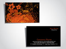 Grungy floral pattern business card Stock Images