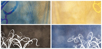 Grungy  floral Rough banners or background Stock Photos