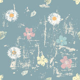 Grungy floral seamless pattern Stock Photo