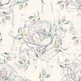 Grungy floral seamless pattern Stock Photography