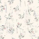 Grungy floral seamless pattern Royalty Free Stock Image