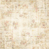 Grungy floral wallpaper. A grungy, distressed antique vintage floral wallpaper Royalty Free Stock Photo