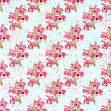 Grungy floral wallpaper Royalty Free Stock Photography