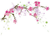 Grungy flowers. Illustration of flowers on a grungy background Royalty Free Stock Images