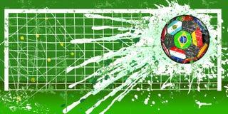 Grungy fotboll- eller fotbollillustration Fotografering för Bildbyråer