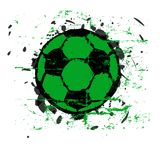 Grungy fotboll klumpa ihop sig Fotografering för Bildbyråer