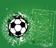 Grungy fotbollnolla fotbollillustratio Arkivfoton