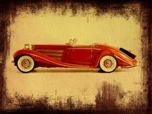 Grungy Foto eines Autos Lizenzfreie Stockbilder