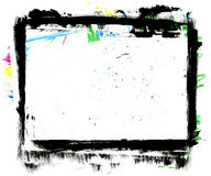 Grungy Frame. Handpainted Grungy Frame, XL size, dirty surface Royalty Free Stock Photo