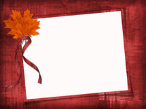 Grungy frame with maple leaves Royalty Free Stock Photos